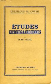 Etudes Kierkegaardiennes - Couverture - Format classique