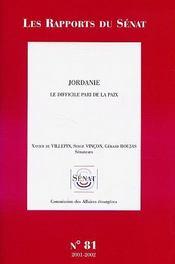 Jordanie ; le difficile pari de la paix - Intérieur - Format classique