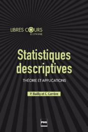 Statistiques descriptives ; théorie et applications - Couverture - Format classique