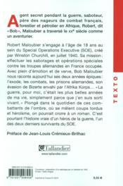 Agent secret de Churchill - 4ème de couverture - Format classique