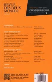 Revue Des Deux Mondes ; L'Armée Et Ses Défis - 4ème de couverture - Format classique