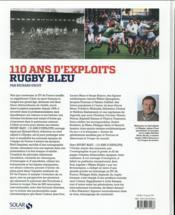 Rugby bleu ; 110 ans d'exploits - 4ème de couverture - Format classique