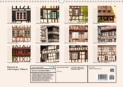 Maisons et colombages d'Alsace (calendrier mural calendrier perpétuel DIN A4 horizontal) - 4ème de couverture - Format classique
