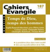 Cahiers de l'Evangile N.187 ; temps de Dieu, temps des hommes - Couverture - Format classique