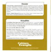 Cahiers de l'Evangile N.187 ; temps de Dieu, temps des hommes - 4ème de couverture - Format classique