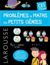 Problèmes de maths des petits génies ; CE1 - Couverture - Format classique