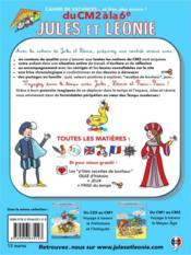 Cahier de vacances Jules et Léonie ; du CM2 à la 6e - 4ème de couverture - Format classique