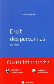 Droit des personnes (22e édition) - Couverture - Format classique