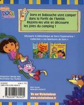 Dora fait du camping - 4ème de couverture - Format classique