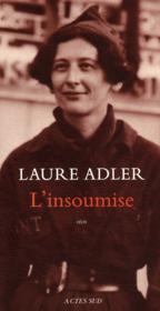 L'insoumise ; Simone Weil - Couverture - Format classique