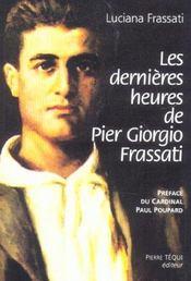 Les Dernieres Heures De Pier Giorgio Frassati - Intérieur - Format classique