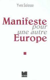 Manifeste Pour Une Autre Europe - Intérieur - Format classique