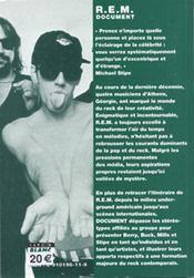 R.E.M ; document - 4ème de couverture - Format classique