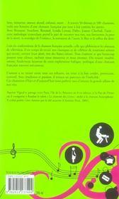 Des chansons pour le dire ; une anthologie de la chanson qui trouble et qui derange - 4ème de couverture - Format classique