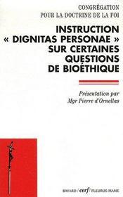 Dignitas personae - Couverture - Format classique