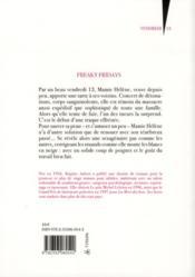 Freaky fridays - 4ème de couverture - Format classique