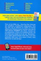 Paris pas cher 2013 - 4ème de couverture - Format classique