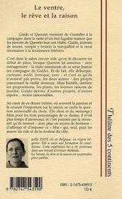 Le Ventre, Le Reve Et La Raison - 4ème de couverture - Format classique