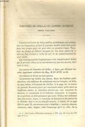 TIMOTHEE DE CHILLAC ET GABRIEL BANQUET - POETES VELLAVIENS / MICHEL BOYER, PEINTRE NE EN VELAY / STATUTS DE LA COMMAUNAUTE DES CHAUDRONNIERS DU PUY (1623) - LES ORIGINES DE LA CHARTREUSE DE VILLENEUVE, près de puy (1626-1628) - Couverture - Format classique