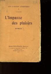Les Cahirs Anonymes - 1 - L'Impasse Des Plaisirs - Couverture - Format classique