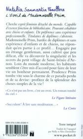 L'éveil de Mademoiselle Prim - 4ème de couverture - Format classique