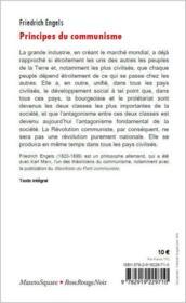 Principes du communisme - 4ème de couverture - Format classique