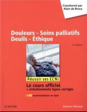 Douleurs - soins palliatifs - deuils - éthique - Couverture - Format classique