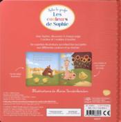 Les couleurs de Sophie ; livre à toucher - 4ème de couverture - Format classique