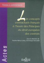 Concepts contractuels francais - Couverture - Format classique