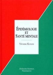 Épidémiologie et santé mentale - Couverture - Format classique