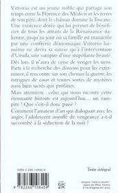 Nouveaux Contes Des Vampires T.2 ; Vittorio Le Vampire - 4ème de couverture - Format classique