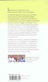 Psychotherapies d'enfant, enfants en psychanalyse - 4ème de couverture - Format classique