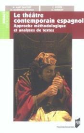 Theatre espagnol contemporain - Couverture - Format classique
