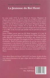 Jeunesse Du Roi Henri (La) T1 - 4ème de couverture - Format classique