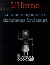 LES CAHIERS DE L'HERNE ; la franc-maçonnerie - Intérieur - Format classique
