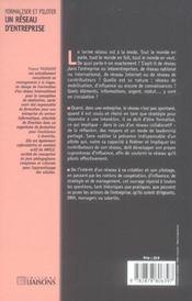Formaliser et piloter un réseau d'entreprise ; réflexion, outils et conseils pour un réseau coopératif stratégique - 4ème de couverture - Format classique