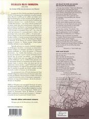 Feuilles bleu horizon ; le livre d'or des journaux du front - 4ème de couverture - Format classique