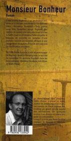 Monsieur bonheur - 4ème de couverture - Format classique