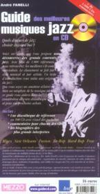 Guide des meilleures musiques jazz en cd - 4ème de couverture - Format classique