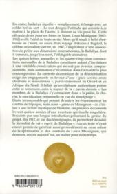 Au nom de l'autre (1947-1962) - 4ème de couverture - Format classique