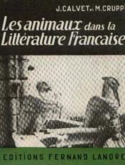 Les animaux dans la littérature française - Couverture - Format classique