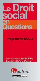 Le droit social en questions ; DCG 3 - Couverture - Format classique