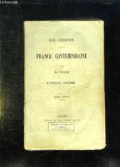 Les Origines De La France Contemporaine. L Ancien Regime. Nouvelle Edition. - Couverture - Format classique