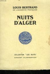 Nuits D'Alger. - Couverture - Format classique