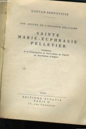 Sainte Marie-Euphtasie Pelletier - Couverture - Format classique