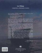 Les Vikings ; Conquerants, Commercants Et Pirates - 4ème de couverture - Format classique