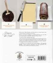 LES DELICES DE SOLAR ; desserts de Noël - 4ème de couverture - Format classique