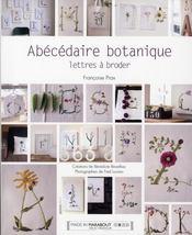 Abécédaire botanique ; lettres à broder - Intérieur - Format classique