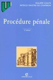 Procedure Penale 2eme Edition - Intérieur - Format classique
