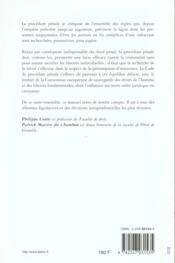 Procedure Penale 2eme Edition - 4ème de couverture - Format classique